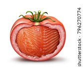 hybrid food and gmo nutrition... | Shutterstock . vector #796270774