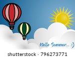 vector illustration of hot air... | Shutterstock .eps vector #796273771