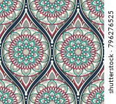 seamless pattern with ethnic... | Shutterstock .eps vector #796276525