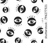 eye seamless pattern background.... | Shutterstock .eps vector #796277521