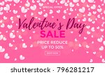 valentines day sale poster or... | Shutterstock .eps vector #796281217