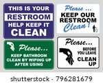 clean sticker sign for office... | Shutterstock .eps vector #796281679