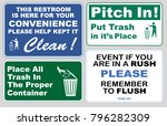 clean sticker sign for office... | Shutterstock .eps vector #796282309