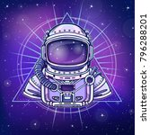 animation astronaut in a space... | Shutterstock .eps vector #796288201