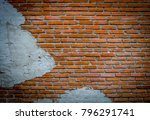 close up  background of bricks... | Shutterstock . vector #796291741