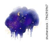 night sky  cloud  winter ... | Shutterstock . vector #796293967