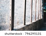 wooden fence and mortar | Shutterstock . vector #796295131