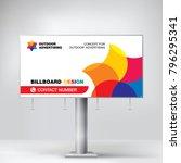 billboard banner  modern design ... | Shutterstock .eps vector #796295341
