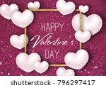 happy valentine's day festive...   Shutterstock . vector #796297417
