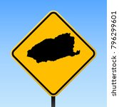 imbros map road sign. square... | Shutterstock .eps vector #796299601