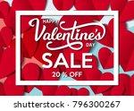 st. valentine's day 20 sale... | Shutterstock .eps vector #796300267