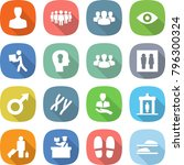 flat vector icon set   man... | Shutterstock .eps vector #796300324