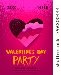 happy valentine's day party... | Shutterstock .eps vector #796300444