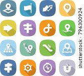 flat vector icon set   pointer... | Shutterstock .eps vector #796300924