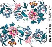 beautiful seamless flower... | Shutterstock .eps vector #796304179