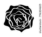 rose isolated illustration on... | Shutterstock .eps vector #796304605