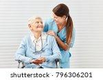 smiling senior citizen in... | Shutterstock . vector #796306201