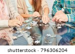 family and seniors play a... | Shutterstock . vector #796306204