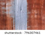 old rusty galvanized.... | Shutterstock . vector #796307461