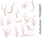human red eye veins set ... | Shutterstock . vector #796308097
