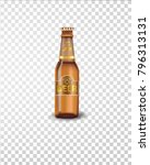 premium beer bottle isolated on ... | Shutterstock .eps vector #796313131