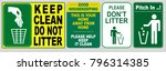clean sticker sign for office ... | Shutterstock .eps vector #796314385