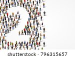 large group of people in number ... | Shutterstock .eps vector #796315657