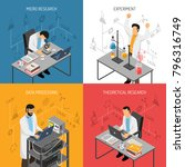 isometric scientific laboratory ... | Shutterstock .eps vector #796316749