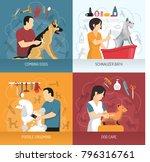grooming service design concept ... | Shutterstock .eps vector #796316761
