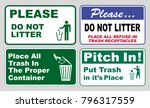 clean sticker sign for office... | Shutterstock .eps vector #796317559