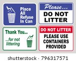 clean sticker sign for office... | Shutterstock .eps vector #796317571