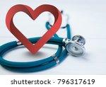 digital composite of heart with ... | Shutterstock . vector #796317619