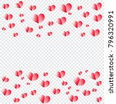 hearts pattern on transparent... | Shutterstock .eps vector #796320991