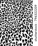 leopard skin pattern vector ... | Shutterstock .eps vector #796322209