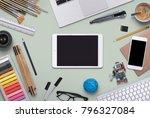 tablet   smartphone mockup | Shutterstock . vector #796327084