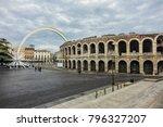 the verona arena  arena di... | Shutterstock . vector #796327207