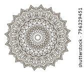mandala. ethnic decorative... | Shutterstock .eps vector #796329451