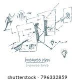 business concept illustration... | Shutterstock .eps vector #796332859