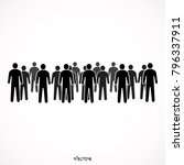 illustration of crowd of people | Shutterstock .eps vector #796337911