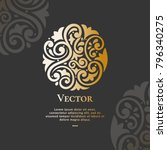 vector emblem. can be used for... | Shutterstock .eps vector #796340275