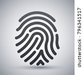 fingerprint icon. simple vector ... | Shutterstock .eps vector #796341517