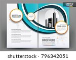 front and back cover of a... | Shutterstock .eps vector #796342051