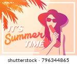 summer holiday and summer... | Shutterstock .eps vector #796344865