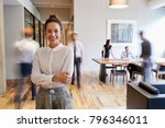 portrait of young white woman... | Shutterstock . vector #796346011