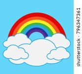 rainbow with cloud icon | Shutterstock .eps vector #796347361