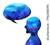 human head  speaking speech... | Shutterstock . vector #796348594