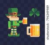 st. patrick's day symbols.... | Shutterstock .eps vector #796349989