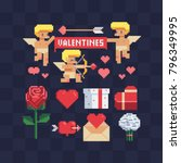 valentine's day holiday... | Shutterstock .eps vector #796349995