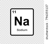 sodium chemical element. sign... | Shutterstock .eps vector #796355137