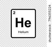 helium chemical element. sign... | Shutterstock .eps vector #796355224